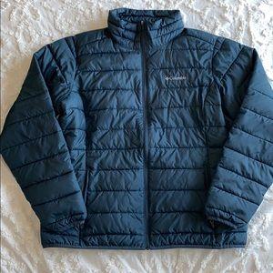 Columbia, dark gray powder lite puffer jacket